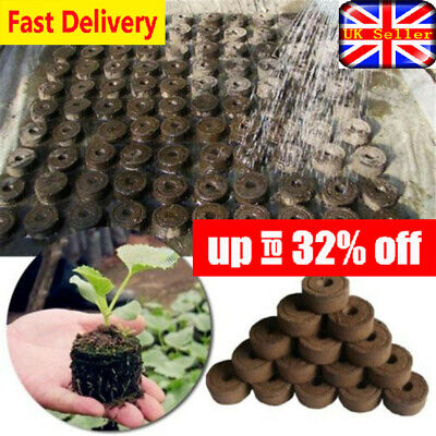1/5/10 Pcs Peat Pellets Seed Propagation Compost Plug Hydroponic Organic Pot UK • 4.07£