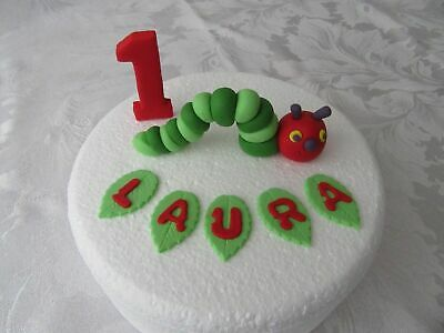 Edible The Very Hungry Caterpillar Birthday Cake Topper Decoration Set • 16.50£