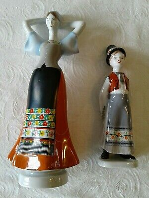 $ CDN66.57 • Buy Vintage Hungarian Porcelain: Aquincum Lady And Hollohaza Boy