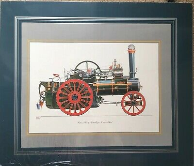 "Ruston & Hornsby Traction Engine No.113043 ""Oliver"" Drawing By Geoffrey Wheeler • 150£"