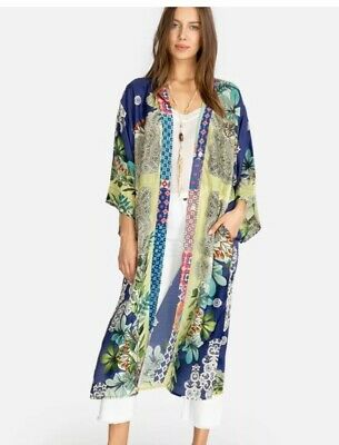 $269 • Buy Johnny Was Large Wasabi Long Silk Kimono NEW