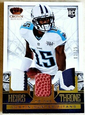 $4.99 • Buy 2013 Crown Royale Justin Hunter GOLD Heirs To The Throne Trios Prime Material #6