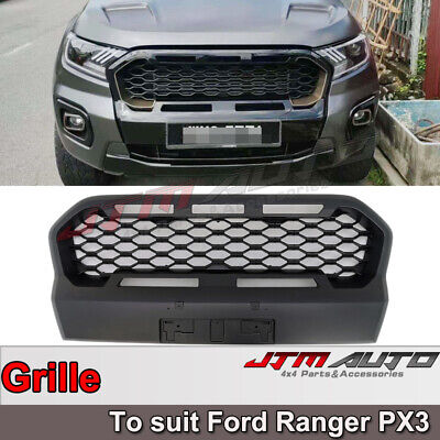 AU217.55 • Buy Front Mesh Grill To Suit Ford Ranger Matte Black PX3 2018-2021 Wildtrak