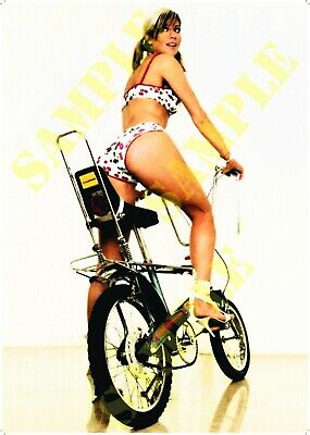 Reproduction Raleigh Chopper Pin Up Poster Girl A2 A3 A4 Vintage Cycles Bike • 9.99£