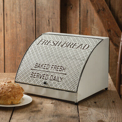 $51.30 • Buy Farmhouse New Large Tin Bread Box With Lid