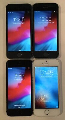 $ CDN180.32 • Buy LOT OF FOUR TESTED GSM UNLOCKED GLOBAL APPLE IPhone 5S, 16GB PHONES Q65T