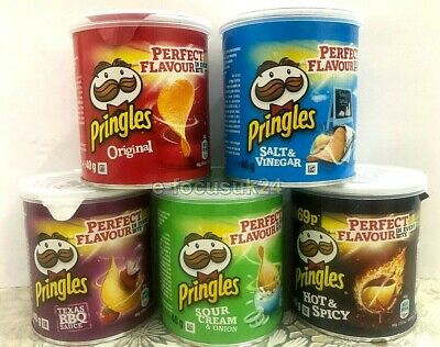 Pringles 5 Perfect Flavour Crisps In Every Bite 12 X 40gm .Free Fast Delivery,UK • 13.99£