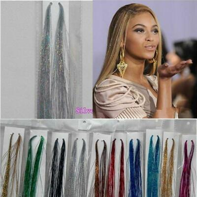 Strands Holographic Sparkle Hair Glitter Tinsel Extensions Dazzles 100  • 2.37£
