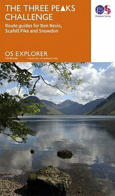 Three Peaks Challenge OS Map (Scafell Cover) • 7.75£