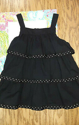 $12 • Buy Gymboree BEE CHIC Black Tiered Ruffle Girls Top Shirt Size 6 Vintage Outlet
