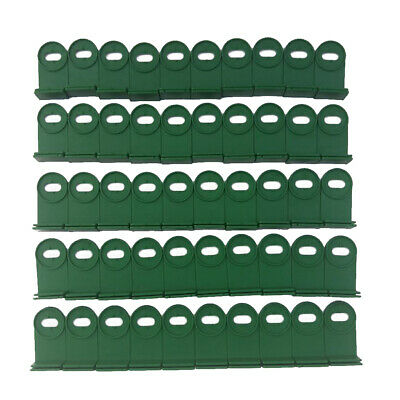50x CORNERS CLIPS FOR GREENHOUSE INSULATION NET SHADING • 6£