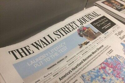 $112 • Buy Wall Street Journal 1-YEAR SUBSCRIPTION - PRINT EDITION-Starts Within 10 Days!