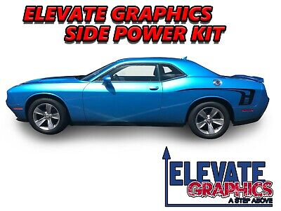 $49.95 • Buy For Dodge Challenger Side Power Graphics Vinyl Stripes 3M Decals Stickers 08-20