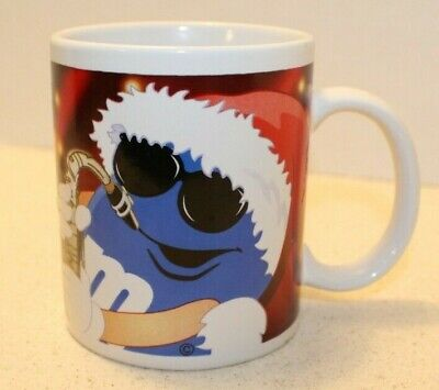 $ CDN13.18 • Buy Blue M&Ms Candy Christmas Coffee Mug By Galerie Holiday Santa Saxophone Music