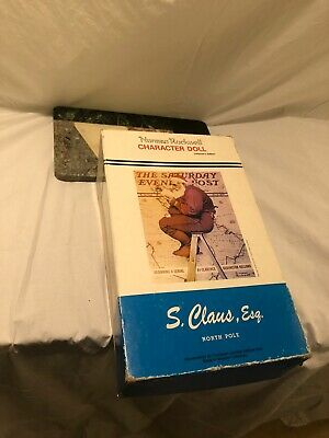 $25 • Buy Santa Norman Rockwell Porcelain Character Doll Figurine Collectors Edition 1984
