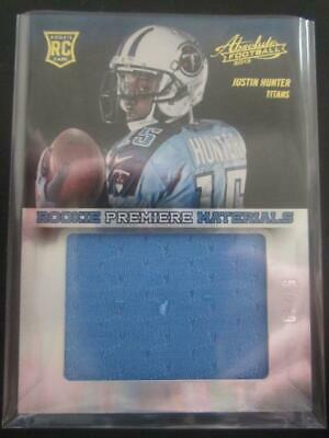 $0.89 • Buy Justin Hunter 2013 Absolute Rookie Premiere Relic RC #57/99 #216 Titans MW