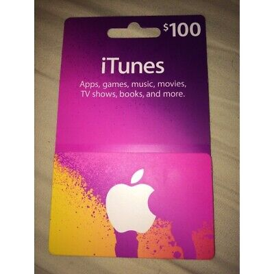 AU180.50 • Buy $100 Apple US ITunes Card Gift Card 100 Dollar Voucher Certificate FAST DISPATCH
