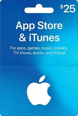 AU46.50 • Buy $25 Apple US ITunes Card Gift Card 25 Dollar Voucher Certificate FAST DISPATCH