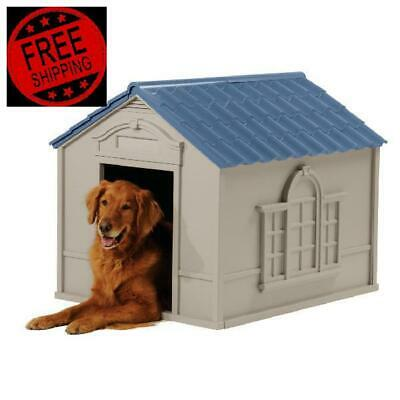 $104.20 • Buy Pet Dog House Kennel Large Medium Small Size Dogs Outdoor Indoor Shelter 2 Sizes