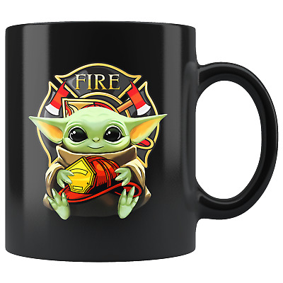 $19.97 • Buy FIREFIGHTER Baby Yoda Star Wars Cute Yoda FIREFIGHTER Fun Coffee Mug Gift