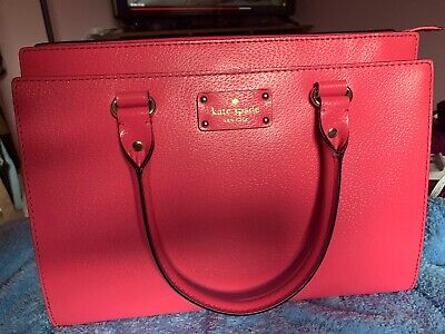 $80 • Buy Kate Spade Hot Pink Leather Handbags With Long Strap
