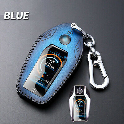 $16.90 • Buy Leather Car Display Key Case Holder Cover Bag For BMW 740 5 7Series G30 GT X3 I8
