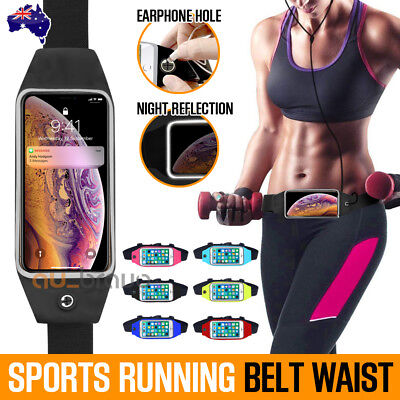 AU6.95 • Buy NEW Sports Running Cycling Jogging Belt Waist Pocket Bum Bags For IPhone Samsung