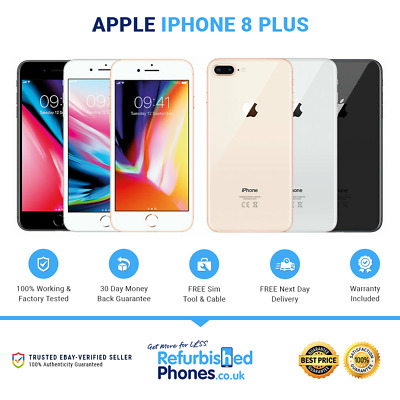 Apple IPhone 8 Plus 64GB/256GB SIM Free Phone Various Colours / Networks A1897 • 249.95£