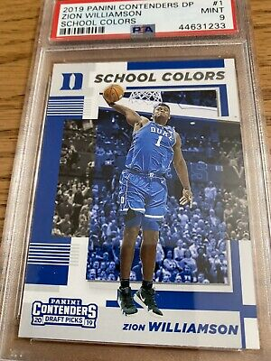 $19.99 • Buy 2019 Panini Contenders DP Zion Williamson Rookie School Colors Graded PSA 9 MINT