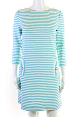 $29.99 • Buy Lilly Pulitzer Womens Striped Charlene Shift Dress Shorely Blue White Small