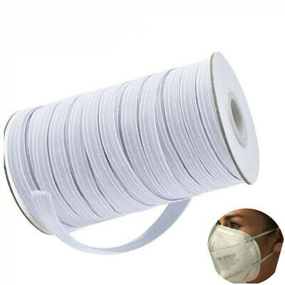 $ CDN6.32 • Buy 10/50/100/200 Yards Braided Elastic Band Cord Knit Band Sewing 3mm 6mm Width