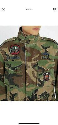 AU400 • Buy Polo Ralph Lauren Men M-65 Military US Army Camo Soldier Officer Field Jacket