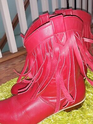 $20 • Buy Women's Square Dance Boots Red Leather Uppers Size 7 M