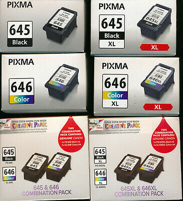 AU42 • Buy Canon Pixma Ink Cartridge 645 645XL Black Or 646 646XL Colour Single/pack NEW