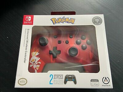 $31.97 • Buy NEW SEALED Nintendo Switch Wireless Controller Pokemon RED Power A Blue Console