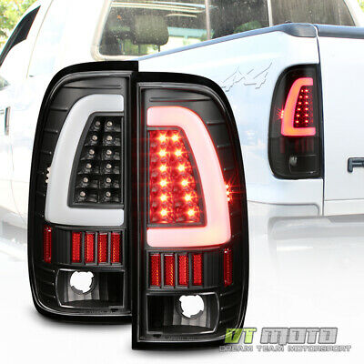 $155.99 • Buy Black 1997-2003 Ford F150 LED Light Bar Tail Lights Brake Lamps Left+Right 97-03