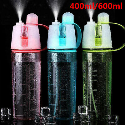 £2.99 • Buy 400/600ML Water Bottle With Straw Drink Spray Cup Cycling Hiking Outdoor Sports
