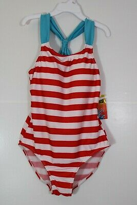 NWT Splash N Swim Red, White, And Blue One-Piece Swimsuit Bathing Suit. Size 12. • 13.02£