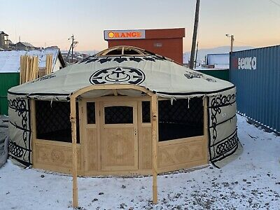 6.8 M Hand Mongolian Carved Yurt- Customized To Meet To European Standard • 9,500£
