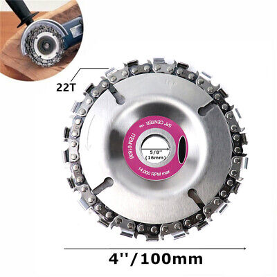 4 Inch Angle Grinder Disc 22 Tooth Chain Saw Blade For Wood Carving Cutting Tool • 9.89£