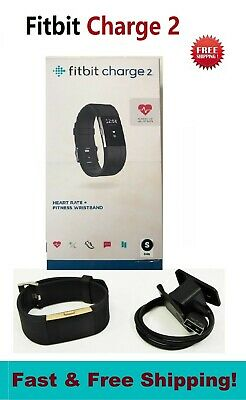 $ CDN116.85 • Buy Fitbit Charge 2 Black Small Fitness Watch Activity HR Monitor FB407SBKS In BOX