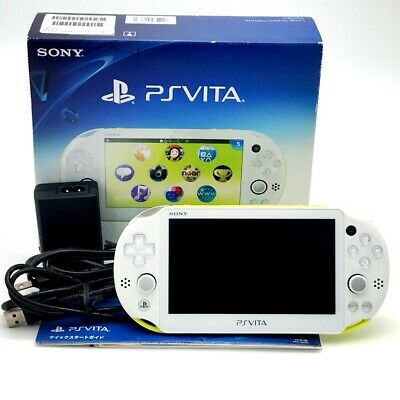 £120.87 • Buy SONY PS Vita PCH-2000 Slim Lime Green White FW:3.52 W/ Charger, Box  Excellent+