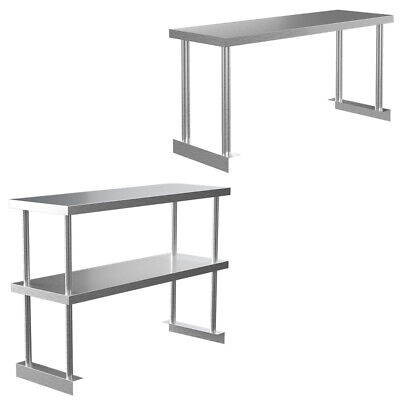 Stainless Steel Prep Work Table Bench Over Shelf Commercial Catering Kitchen Use • 79.95£