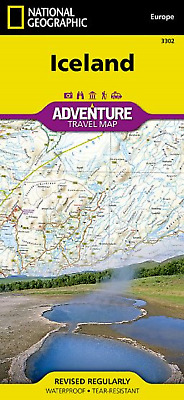 National Geographic - Adventure Map - Iceland • 9.95£