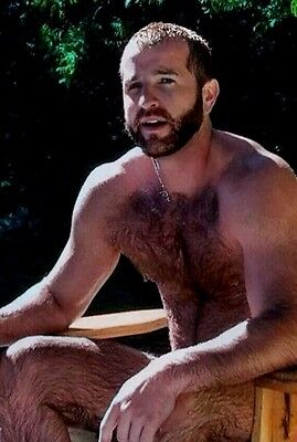 $ CDN4.40 • Buy Shirtless Male Hairy Chest Legs Beard Dude By Pool Beefcake PHOTO 4X6 D1281