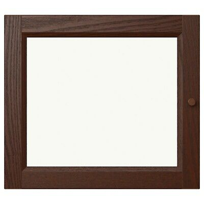 Ikea OXBERG Brown Glass Door For Billy Bookcase Cabinet New 902.798.37 • 17.65£