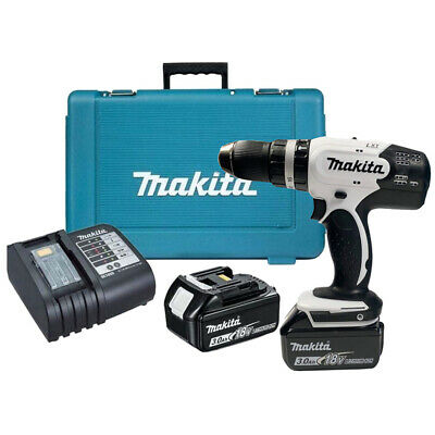 View Details Makita DHP453SFEW 18V Combi Hammer Drill With 2 X 3.0Ah Batteries Charger & Case • 135.00£