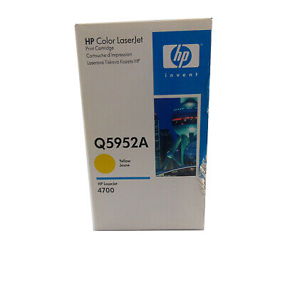 New In Box HP Q5952A 634A Original LaserJet 4700 Toner Cartridge, Yellow Jaune • 34.99£