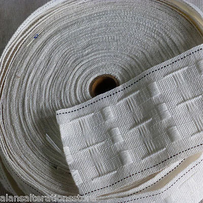 3   75mm Rufflette Curtain Pencil Pleat Header Tape Style Purchase By The Metre • 1.25£