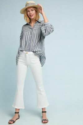 $ CDN102.53 • Buy Anthropologie Harshman Randall Striped Oversized Button Down Grey Shirt Size S